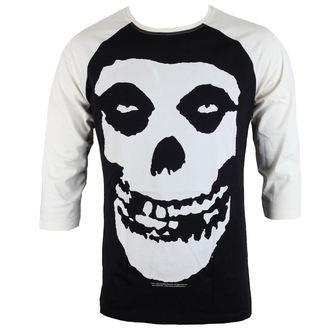 tričko pánske s 3/4 rukávom MISFITS - SKULL - BLACK/WHITE - LIVE NATION - PE14047BSBP