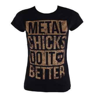 tričko dámske METAL CHICKS DO IT BETTER - Metal chicks - Bronze