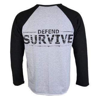 tričko pánske s dlhým rukávom ALISTAR - Zombie Defend Survive, ALISTAR