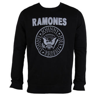 mikina pánska RAMONES - LOGO - Black - AMPLIFIED, AMPLIFIED, Ramones