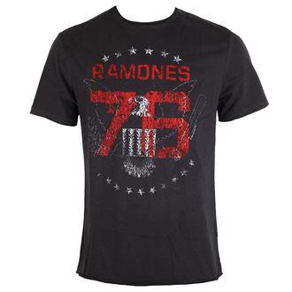 tričko pánske RAMONES 1976 TOUR - Charcoal - AMPLIFIED, AMPLIFIED, Ramones