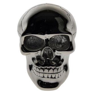 dekorácia -hlavica radiacou páky- Silver Skull Gear - POŠKOZENÁ, Nemesis now