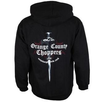 mikina pánska ORANGE COUNTY CHOPPERS - Embr Front - Shop Dagger - Black, ORANGE COUNTY CHOPPERS