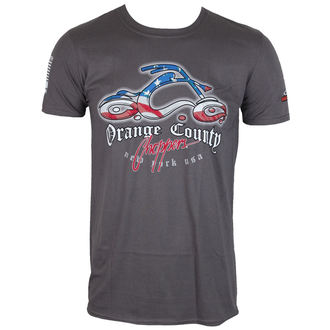 tričko pánske ORANGE COUNTY CHOPPERS - Patriotic - Charcoal, ORANGE COUNTY CHOPPERS