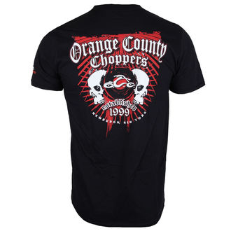 tričko pánske ORANGE COUNTY CHOPPERS - Two Skulls - Black, ORANGE COUNTY CHOPPERS