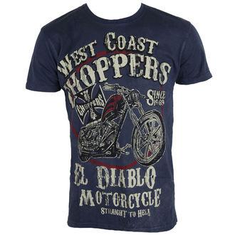 tričko pánske West Coast Choppers - WCC EL DIABLO - VINTAGE BLUE, West Coast Choppers