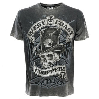 tričko pánske West Coast Choppers - WCC CASH ONLY - BLACK/GREY, West Coast Choppers