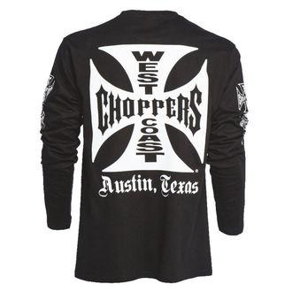 tričko pánske s dlhým rukávom West Coast Choppers - WCC OG CROSS LONG SLEEVE - BLACK, West Coast Choppers