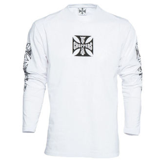 tričko pánske s dlhým rukávom West Coast Choppers - WCC OG CROSS LONG SLEEVE - WHITE, West Coast Choppers