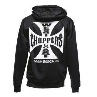 mikina pánska West Coast Choppers - Iron Cross Hoodie Zip - Black, West Coast Choppers