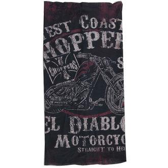 šatka West Coast Choppers - EL DIABLO - BLACK, West Coast Choppers