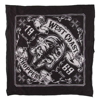 šatka West Coast Choppers - SKULL 13 - BLACK, West Coast Choppers