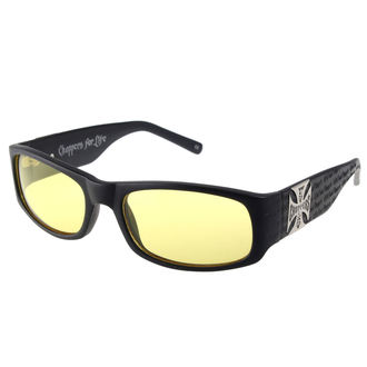 okuliare West Coast Choppers - WCC GANGSCRIPT - MATTE BLACK YELLOW, West Coast Choppers