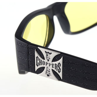 okuliare West Coast Choppers - WCC GANGSCRIPT - MATTE BLACK YELLOW