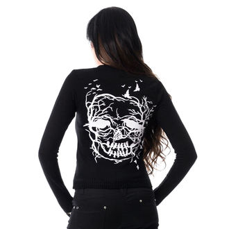 sveter dámsky (cardigan) VIXXSIN - SKULL CROW - BLACK, VIXXSIN