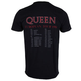 tričko pánske Queen - European Tour 1984 - ROCK OFF, ROCK OFF, Queen