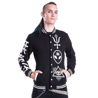 mikina pánska HEARTLESS - DEALER VARSITY - BLACK, HEARTLESS