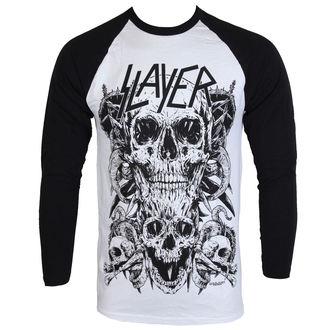 tričko pánske s dlhým rukávom Slayer - Skulls Raglan - ROCK OFF, ROCK OFF, Slayer