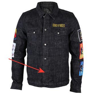 bunda pánska Guns N' Roses - Classic - Denim - BRAVADO - POŠKODENÁ - N658