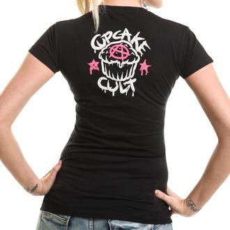 tričko dámske Cupcake Cult - PONY MUERTE - Black, CUPCAKE CULT
