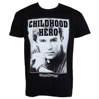 tričko pánske MacGyver - Childhood Hero - Black - HYBRIS