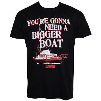 tričko pánske Čelisti - Bigger Boat - Black - HYBRIS, HYBRIS, ČELISTI