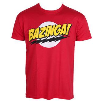 tričko pánske Teorie Velkého Třesku - Bazinga - Super Logo - Red - HYBRIS, HYBRIS