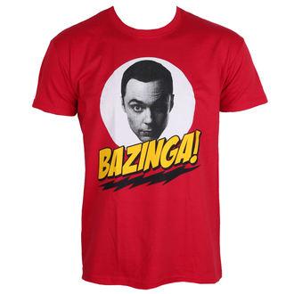 tričko pánske Teorie Velkého Třesku - Bazinga Sheldons Head - Red - HYBRIS, HYBRIS