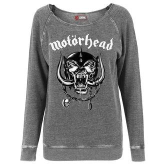 mikina dámska Motörhead - Logo Burnout Open Edge, URBAN CLASSICS, Motörhead