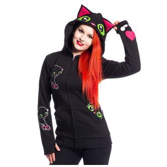 mikina dámska Cupcake cult - BLACK CAT - BLACK, CUPCAKE CULT