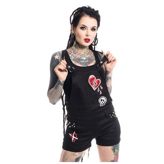 kraťasy dámske Heartless - ANTI LOVE BIB AND BRACE - BLACK, HEARTLESS