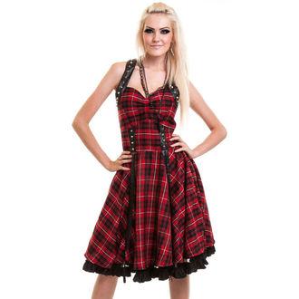 šaty dámske Vixxsin - RADIANCE - RED CHECK