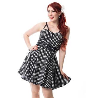 šaty dámske RockaBella - KEIRA - BLACK GINGHAM, ROCKABELLA