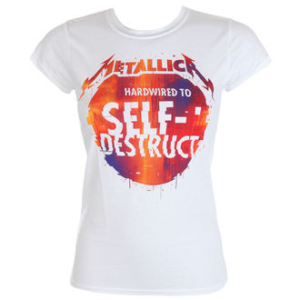 tričko dámske Metallica - Glitch Ball - White, Metallica