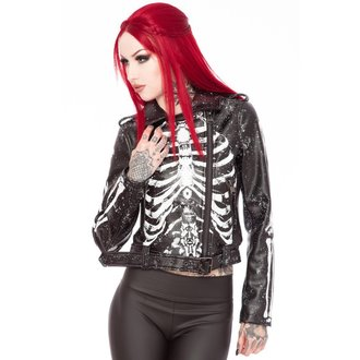 bunda dámska (křivák) KILLSTAR - Morgue Gimme Bones - Black