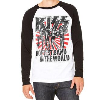 tričko pánske s dlhým rukávom KISS - Hottest Band In The World - HYBRIS, HYBRIS, Kiss