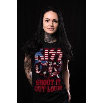 tričko dámske KISS - Shout It Out Loud - HYBRIS, HYBRIS, Kiss