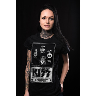 tričko dámske KISS - In Concert Distressed Poster - HYBRIS, HYBRIS, Kiss