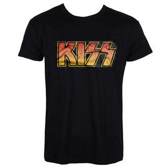 tričko pánske KISS - Distressed Logotype - HYBRIS, HYBRIS, Kiss