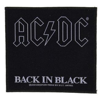 nášivka AC/DC - BACK IN BLACK - RAZAMATAZ, RAZAMATAZ, AC-DC