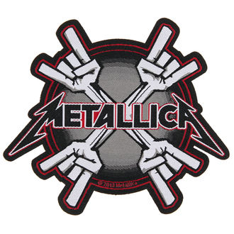 nášivka METALLICA - METAL HORNS - RAZAMATAZ, RAZAMATAZ, Metallica