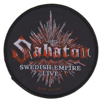nášivka SABATON - SWEDISH EMPIRE LIVE - RAZAMATAZ, RAZAMATAZ, Sabaton