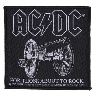 nášivka AC/DC - FOR THOSE ABOUT TO ROCK - RAZAMATAZ, RAZAMATAZ, AC-DC