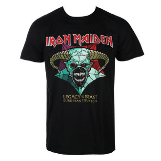 tričko pánske Iron Maiden - Legacy of the Beast European Tour 2018 - Black - ROCK OFF, ROCK OFF, Iron Maiden