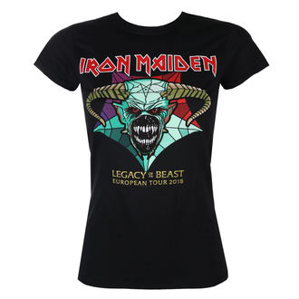 tričko dámske Iron Maiden - Legacy of the Beast European Tour 2018 - ROCK OFF, ROCK OFF, Iron Maiden