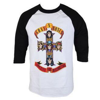 tričko pánske Guns N' Roses - AFD RAGLAN-WHITE / BLACK - BRAVADO, BRAVADO, Guns N' Roses