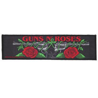 nášivka Guns N' Roses - LOGO/ROSES - RAZAMATAZ, RAZAMATAZ, Guns N' Roses