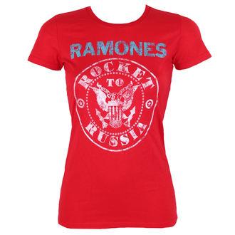 tričko dámske RAMONES - ROCKET RUSSIA - RED - BRAVADO, BRAVADO, Ramones