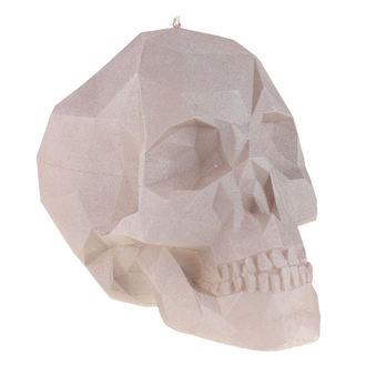 sviečka Skull - Gray