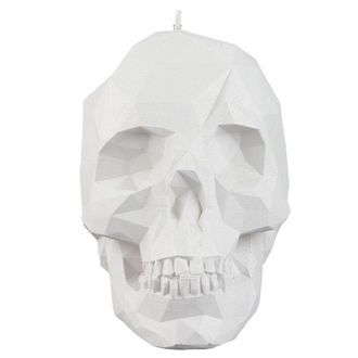 sviečka Skull - White